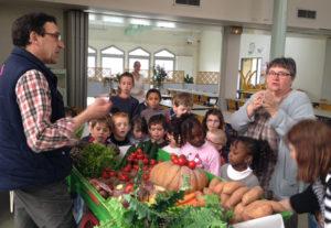 Scolaire découverte des légumes
