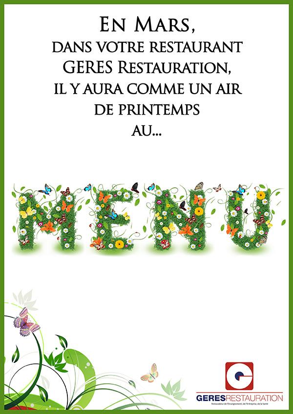 En mars il y aura comme un air de printemps au menu geres restauration - Idee menu printemps ...
