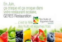 C'est la fête des fruits et légumes frais avec GERES Restauration