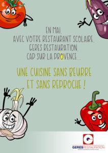 En Mai, la Provence dans nos restaurants scoalires