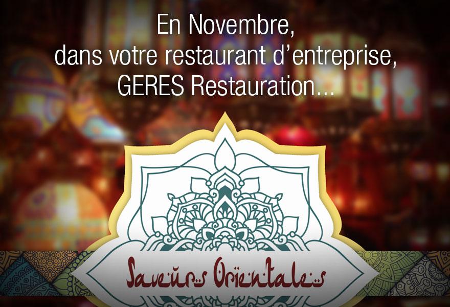 GERES Restauration - restaurant d'entreprise - animation saveurs orientales - 112017