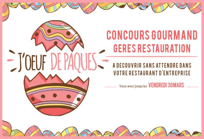 Joeuf de Paques 2018 GERES Restauration Entreprise