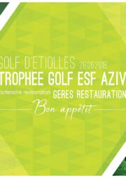 GERES Restauration Partenaire Restauration Trophée Golf ESF AZIV