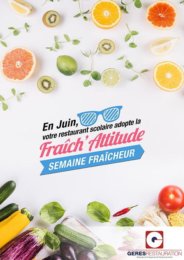 Menu Fraîch'Attitude 2018 GERES Restauration Scolaire
