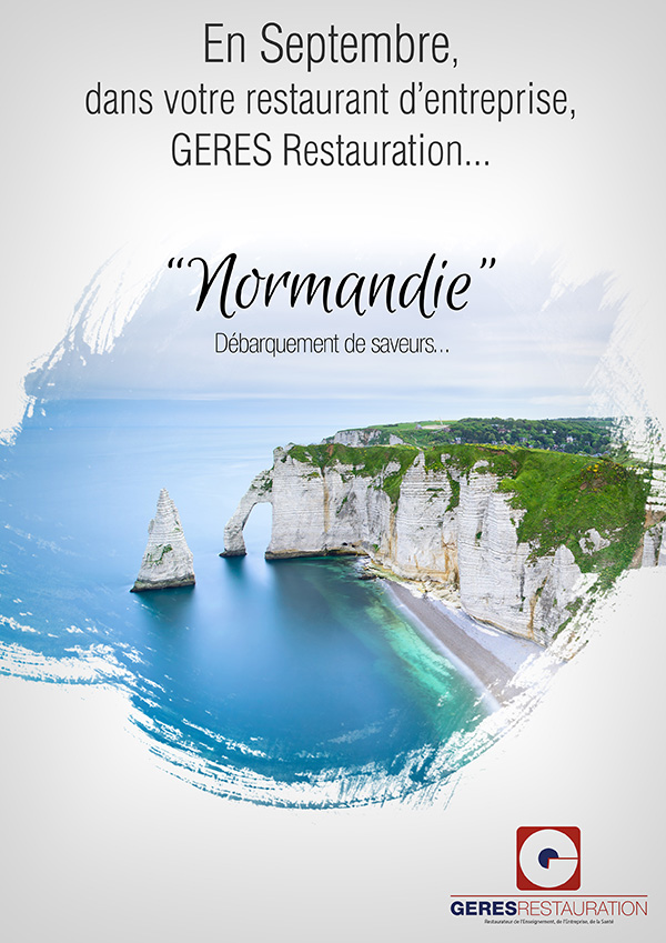 Menu Normandie septembre 2018 GERES Restauration Entreprise