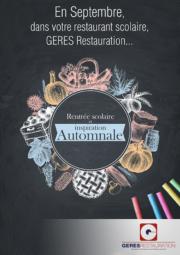 Menu Automne septembre 2018 GERES Restauration Scolaire