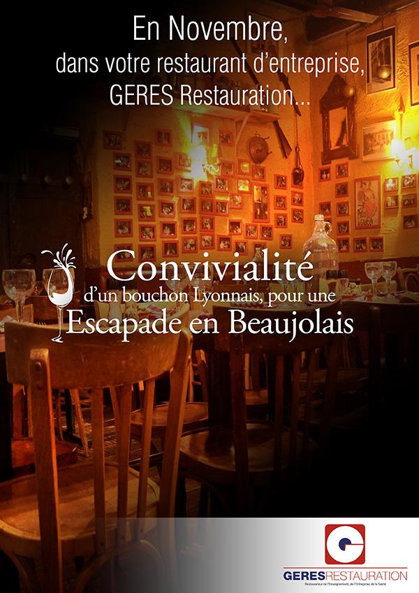 Menu Beaujolais Novembre 2018 GERES Restauration d'Entreprise