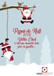 Menu de Noël 2018 pour les restaurants scolaires de GERES Restauration