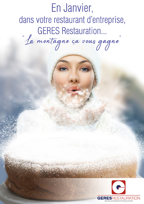 Menu de Janvier 2019 pour les restaurants d'entreprise de GERES Restauration - La montagne ça vous gagne