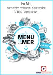 Menu Mai 2019 pour les restaurants d'entreprise de GERES Restauration – Menu de la Mer