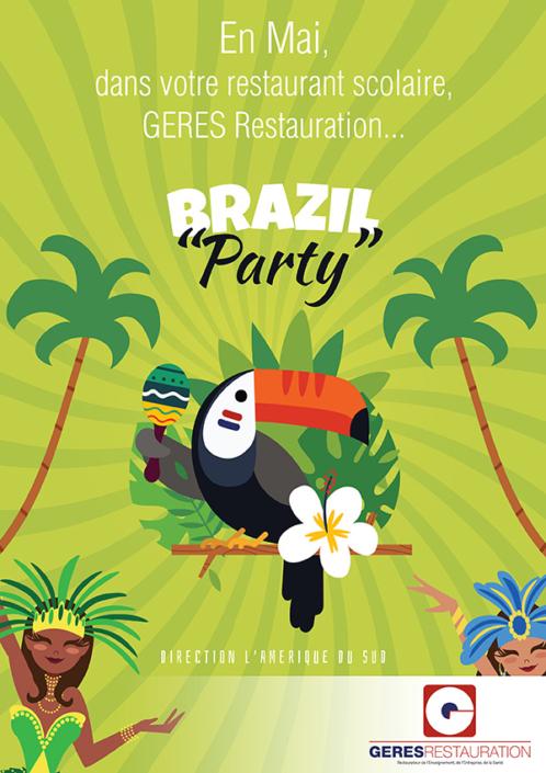 Menu Mai 2019 pour les restaurants scolaires de GERES Restauration – Brazil Party