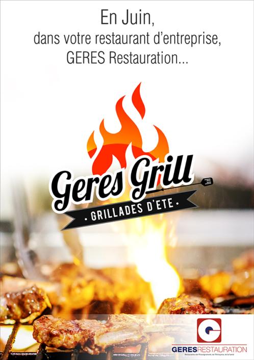 Menu Juin 2019 pour les restaurants d'entreprise de GERES Restauration – Grillades d'été