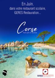Menu Juin 2019 pour les restaurants scolaires de GERES Restauration – Corse
