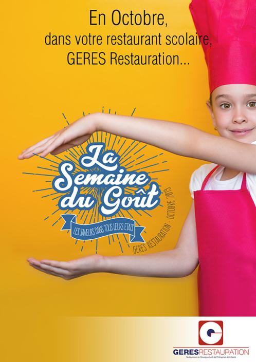 Menu Octobre 2019 pour les restaurants scolaires de GERES Restauration – Semaine du Goût