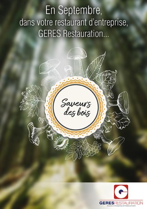 Menu Septembre 2019 pour les restaurants d'entreprise de GERES Restauration – Saveurs de bois