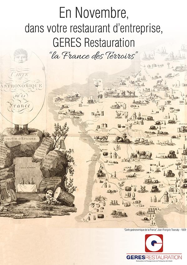 Menu Novembre 2019 pour les restaurants d'entreprise de GERES Restauration – Les France des Terroirs