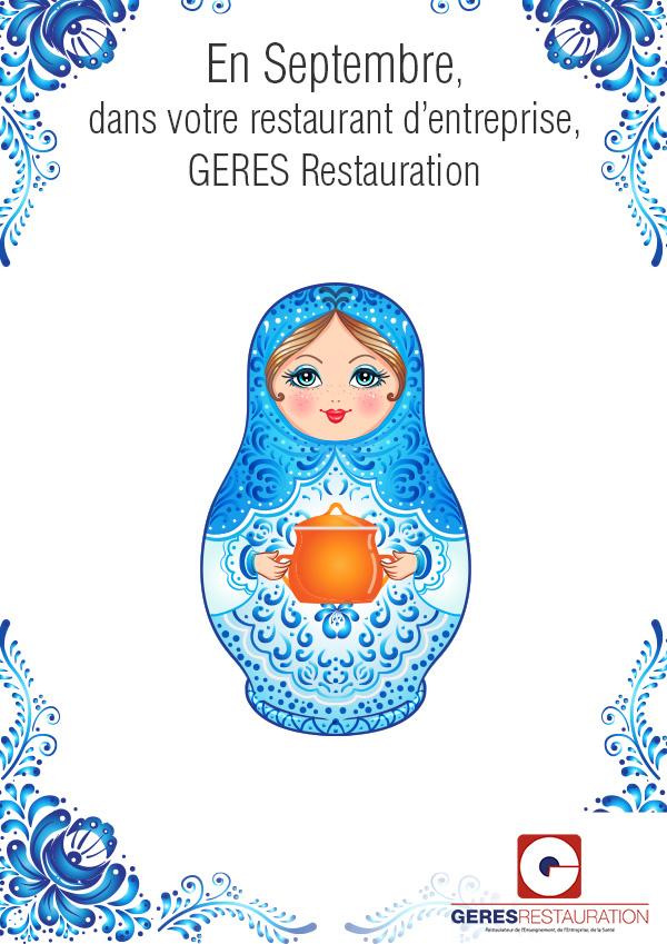Menu Septembre 2020 pour les restaurants d'entreprises de GERES Restauration – Menu Russe