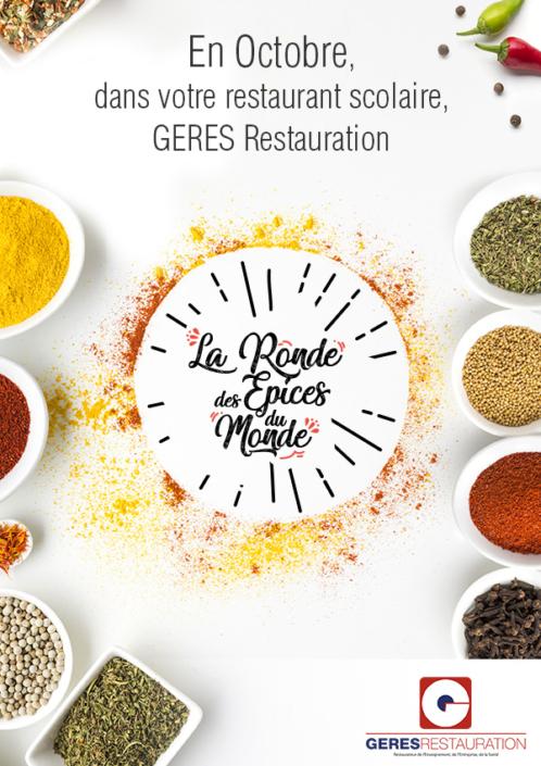 Menu Octobre 2020 pour les restaurants scolaires de GERES Restauration – La ronde des épices du monde