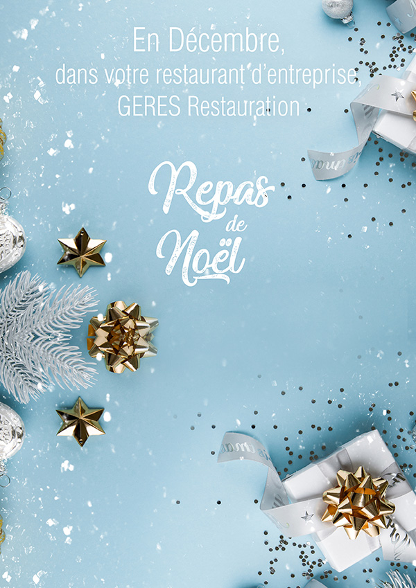 Repas de Noël pour les restaurants d'entreprises en décembre