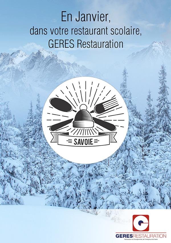Menu savoyard pour les restaurants scolaires en janvier