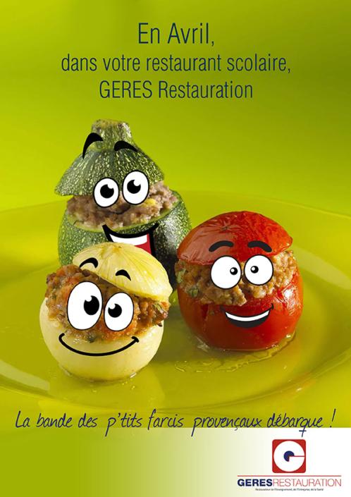 En Avril, dans votre restaurant scolaire... menu provençal