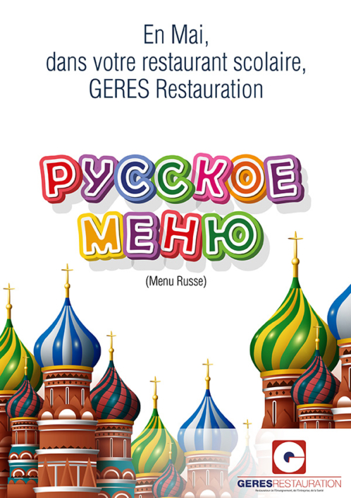 En Mai, dans votre restaurant d'entreprise… menu Russe