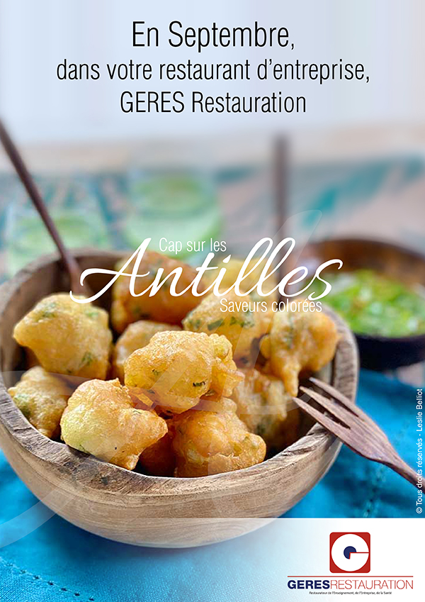 En Septembre, dans votre restaurant d'entreprise, menu Antillais
